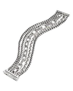 David Yurman - Sterling Silver Multi-Row Chain Bracelet