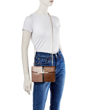 Salvatore Ferragamo - Gancini Mixed-Media Leather Crossbody