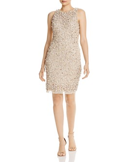 Aidan by Aidan Mattox - Beaded & Sequin Cocktail Dress