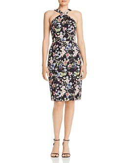Aidan by Aidan Mattox - Floral-Print Halter Cocktail Dress