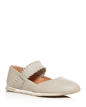 Gentle Souls by Kenneth Cole Women's Luca Ruffle-Strap Flats