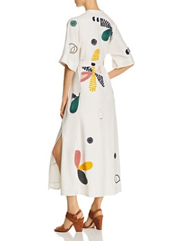 Tory Burch - Embroidered Caftan Midi Dress