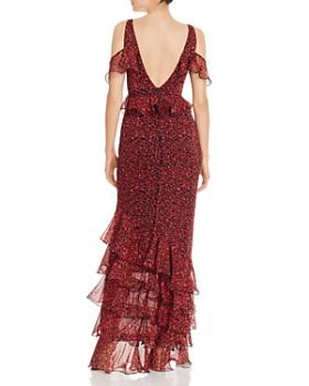 SAU LEE - Valentina Cold-Shoulder Ruffled Gown