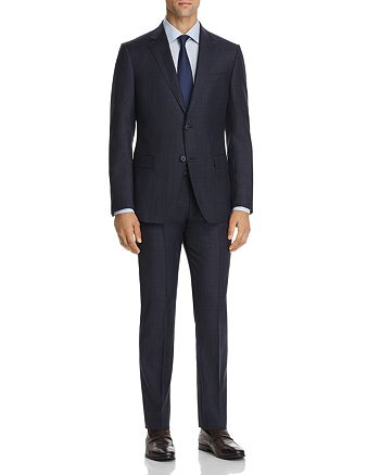 Z Zegna - Plaid Slim Fit Suit