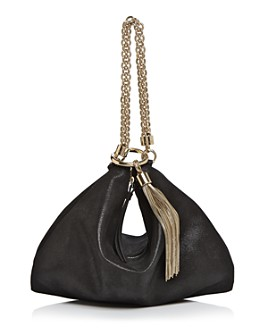 Jimmy Choo - Callie Shimmer Leather Convertible Clutch