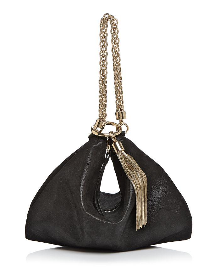 Jimmy Choo Callie Shimmer Leather Convertible Clutch    Bloomingdale's