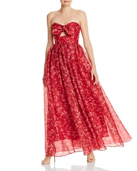Keepsake - Midnight Floral Cut-Out Gown