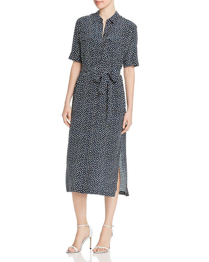 Lafayette 148 New York - Doha Silk Short-Sleeve Geometric-Print Shirt Dress