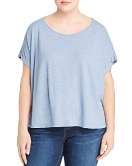 Eileen Fisher Plus - Cropped Boxy Tee