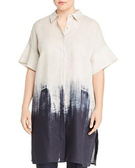 Lafayette 148 New York Plus - Jasarah Linen Ombré Tunic Shirt
