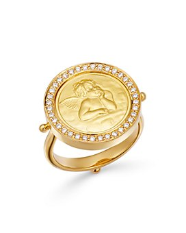 Temple St. Clair - 18K Yellow Gold Angel Diamond Ring