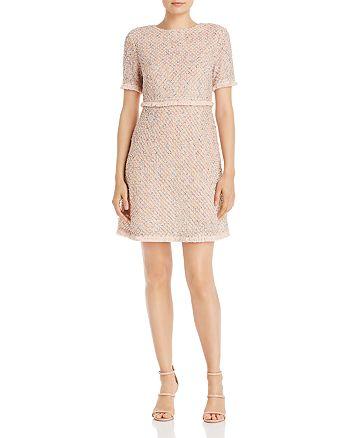 AQUA - Tweed Fringe-Trimmed Dress - 100% Exclusive