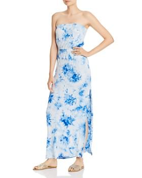 AQUA - Strapless Tie-Dye Maxi Dress - 100% Exclusive