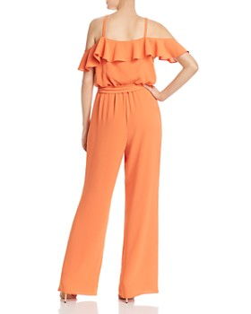 Adrianna Papell - Cold-Shoulder Crepe Jumpsuit