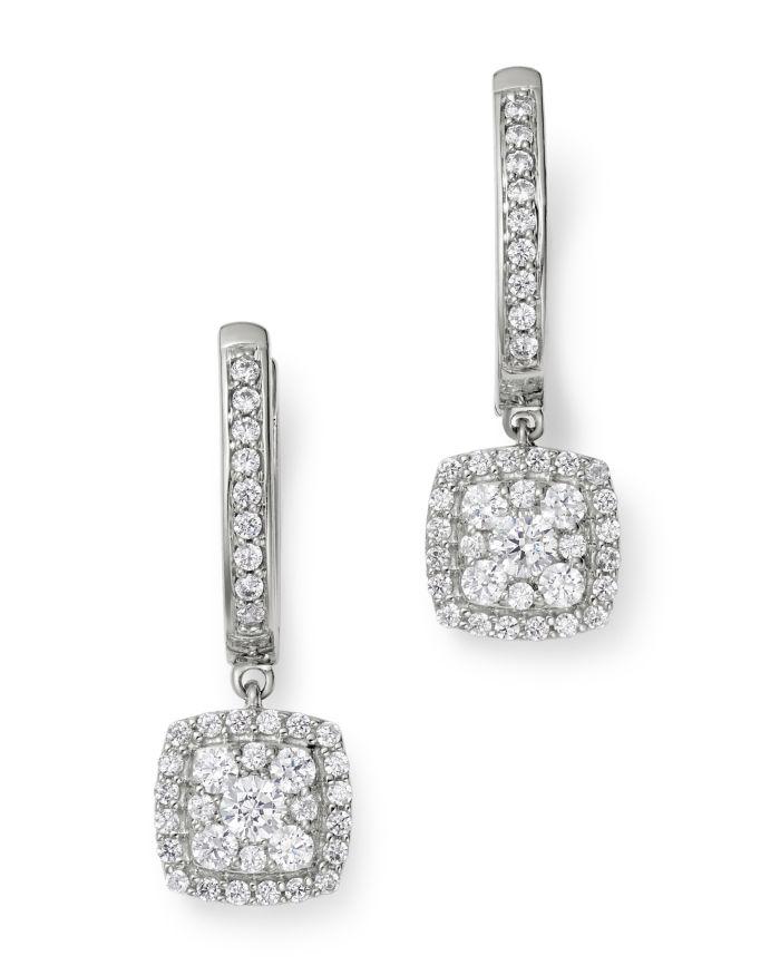 Bloomingdale's Cluster Diamond Drop Earrings in 14K White Gold, 0.70 ct. t.w. - 100% Exclusive    Bloomingdale's