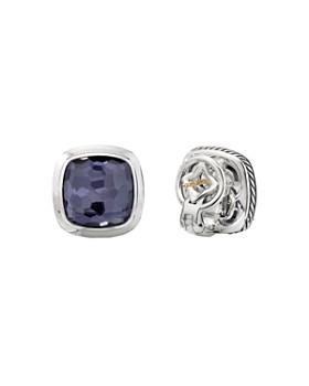 David Yurman - Sterling Silver Albion Black Orchid Stud Earrings