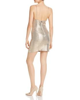 Alice and Olivia - Nelle Metallic Mini Dress