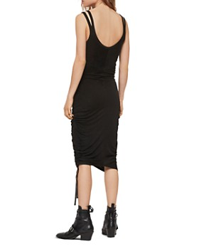 ALLSAINTS - Ola Ruched Drawstring Midi Dress