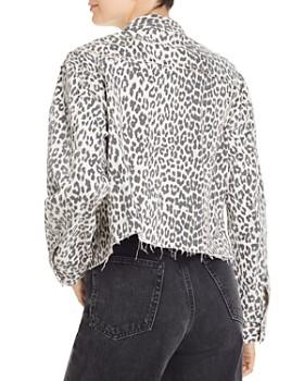 Pistola - Naya Leopard-Print Denim Boyfriend Jacket