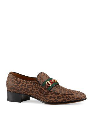 Gucci Men's Leopard Print Interlocking