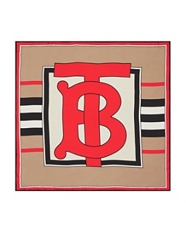 Burberry - Heritage Stripe Monogram Silk Scarf