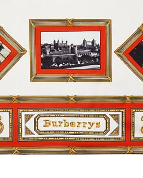 Burberry - Postcard Archive Print Silk Scarf