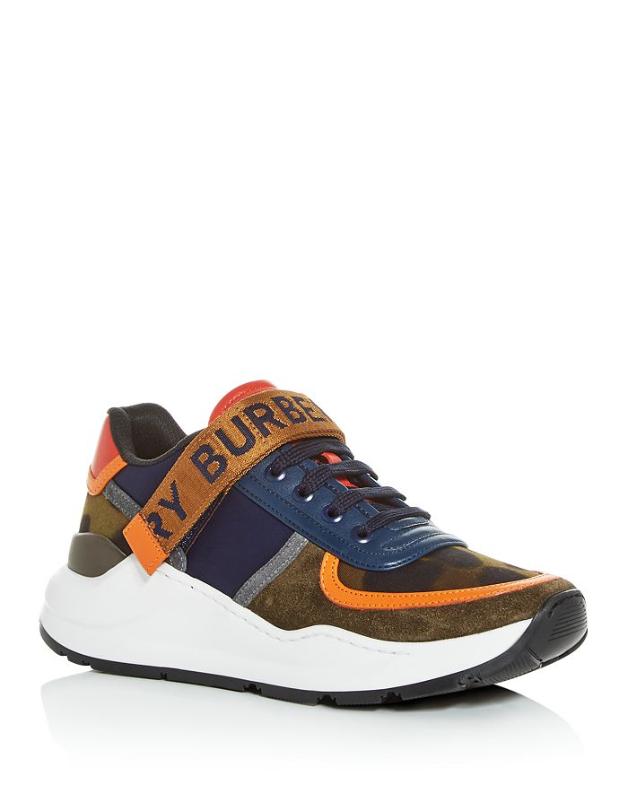 Burberry - Women's Ronnie Mixed Media Low-Top Sneakers