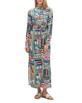 938129af56 Lafayette 148 New York - Doha Painting-Print Maxi Shirt Dress ...
