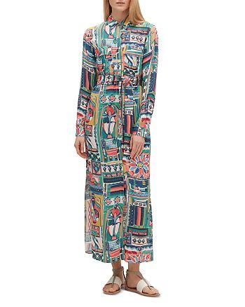 Lafayette 148 New York - Doha Painting-Print Maxi Shirt Dress