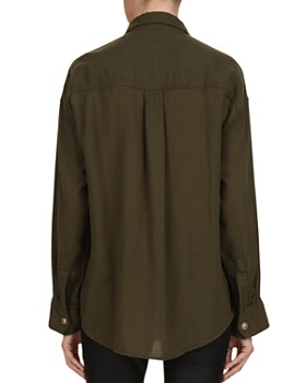 The Kooples - Snap-Front Cotton Shirt