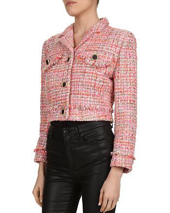 The Kooples - Glam Cropped Tweed Blazer