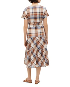 Lafayette 148 New York - Lafayette 148 New York Angelique Plaid Tiered Dress