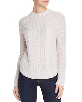 AQUA - Cable-Knit Cashmere Sweater - 100% Exclusive