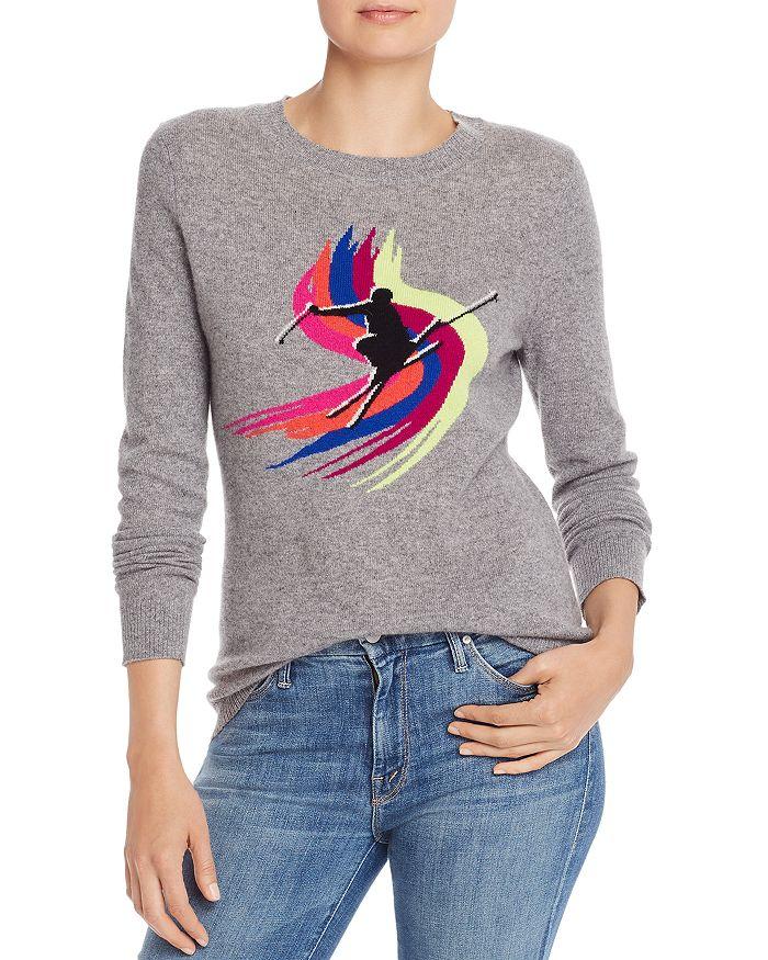 AQUA - Ski Jumper Cashmere Sweater - 100% Exclusive