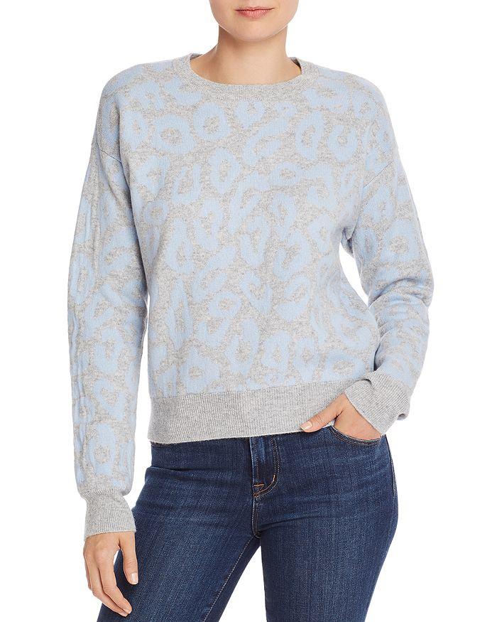 AQUA - Leopard Jacquard Cashmere Sweater - 100% Exclusive