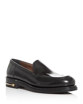 Salvatore Ferragamo - Men's Teeth Leather Apron-Toe Loafers