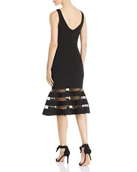 AQUA - Fluted Scuba Crêpe Midi Dress - 100% Exclusive
