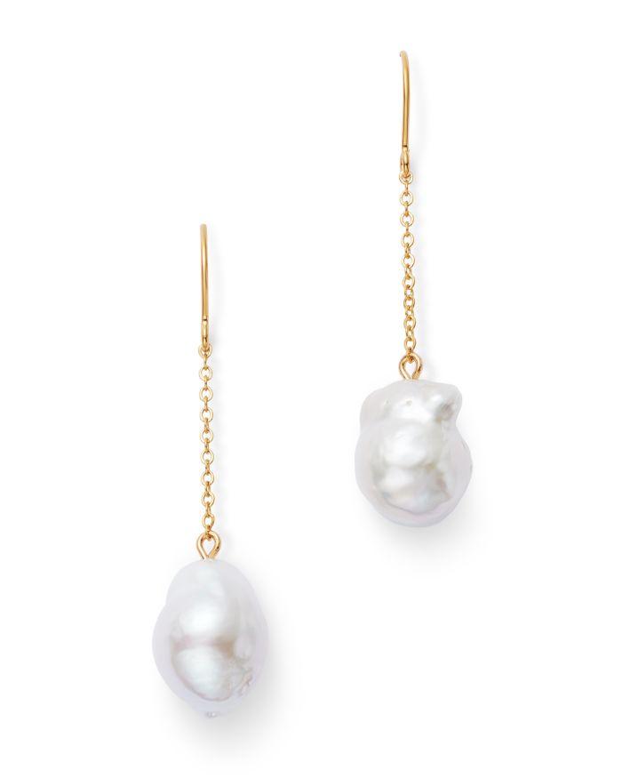 Bloomingdale's Baroque Pearl Drop Earrings in 14K Yellow Gold - 100% Exclusive    Bloomingdale's