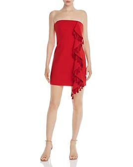 Cinq à Sept - Nat Tasseled Strapless Mini Dress