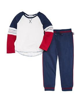 Splendid - Boys' Piped Tee & Jogger Pants Set - Little Kid