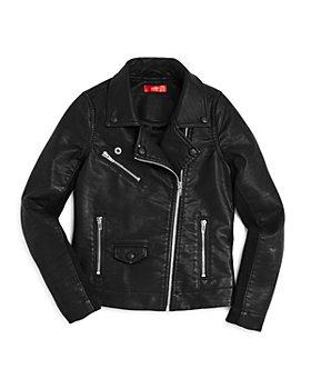 AQUA - Girls' Faux-Leather Moto Jacket, Big Kid - 100% Exclusive