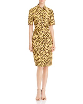 kate spade new york - Sunny Bloom Ruched-Front Shirt Dress