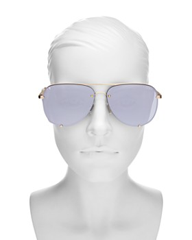 Quay - Women's High Key Rimless Aviator Sunglasses, 53mm