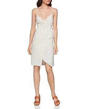 BCBGENERATION - Striped Wrap Dress