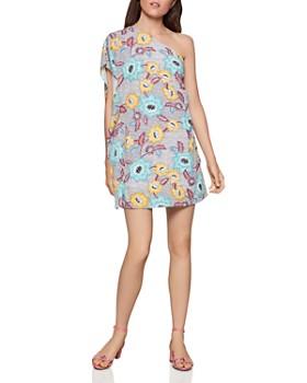 BCBGENERATION - Floral One-Shoulder Shift Dress