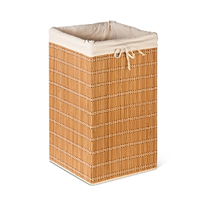 Honey Can Do Square Bamboo Wicker Hamper