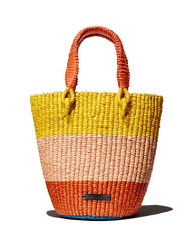 A A K S - Tia Medium Raffia Basket Bag