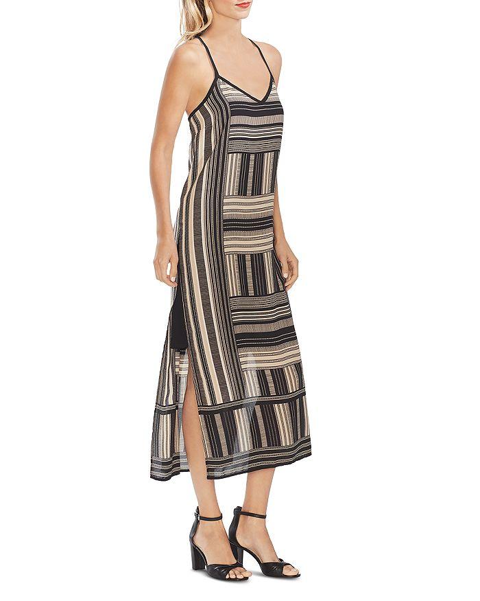 VINCE CAMUTO - Geo-Print Midi Slip Dress