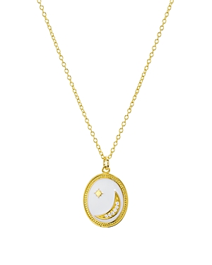 Aqua Moon & Star Pendant Necklace in 18K Gold-Plated Sterling Silver, 16 - 100% Exclusive