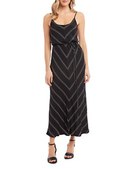 Karen Kane - Floral Chevron-Pattern Cami Maxi Dress